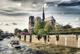 Notre Dame Cathedral - the banks of the Seine in Paris - France Photographic Print by Philippe Hugonnard