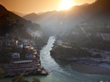 Devprayag, India: the Official Start of the Ganges River Photographic Print by Ian Shive