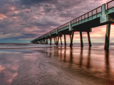 Jacksonville, Fl: Sunrise Colors the Skies at the Pier Photographic Print by Brad Beck