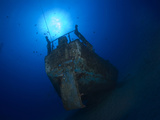 A Small Sailboat Wreck known as the Wreck of the Naked Lady. Photographic Print by Andy Lerner