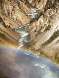 A View of the Yellowstone River from the Top of Lower Falls in Yellowstone National Park, Wyoming. Photographic Print by Bennett Barthelemy