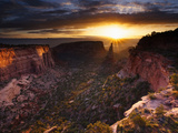 Independence Monument of Colorado National Monument Photographic Print by Mike Cavaroc