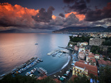 Sorrento, Italy: a Vibrant Sunset over the Classic Amalfi Coastal City Photographic Print by Ian Shive