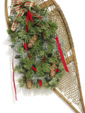Antique Snowshoe with Christmas Decorations, Bridgton, Maine Photographic Print by Nance Trueworthy