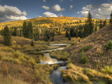 Mcclure Pass at Sunset During the Peak of Fall Colors in Colorado Photographic Print by Kyle Hammons