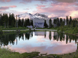 Walk in the Sky - Picture Lake Washington Shuksan Photographic Print by Aaron Reed