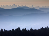 He View from the Summit of Mt. Tamalpais Looking Back Towards the City of San Francisco, Ca Photographic Print by Ian Shive