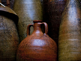 Pompeii, Italy: Ancient Jugs Dating Back to 8 Bc Stand Idle Along the Walls of Pompeii Photographic Print by Ian Shive