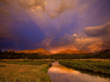 Yosemite National Park, California: Storm Clouds Cast Unusual Colors over the Tuolomne Creek Photographic Print by Ian Shive