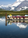 Many Glacier Lodge on Swiftcurrent Lake , Glacier National Park, Montana Photographic Print by Brad Beck