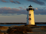 Edgartown Lighthouse at Christmas on Martha's Vineyard at Sunset Photographic Print by James Shive