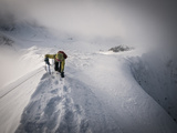 Winter Mountaineering Deep in Glacier National Park, Montana. Photographic Print by Steven Gnam