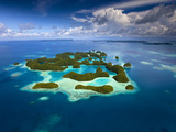 Palau and 70 Mile Islands Photographic Print by Ian Shive
