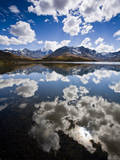 Reflections of Mt. Tuni Condoriri in the Cordillera Real, Bolivi Photographic Print by Sergio Ballivian