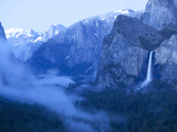 Scenic Image of Bridalveil Falls and Yosemite Valley. Yosemite National Park. Photographic Print by Justin Bailie