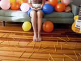 Brunette Womanwith Balloons, Denver, Co. Photographic Print by Jennifer Davidson
