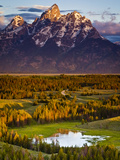 Hedrick Pond and the Grand Teton Photographic Print by Mike Cavaroc