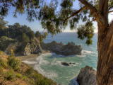 Mcway Falls at Julia Pfeiffer Burns State Park on the Big Sur Coast of California Photographic Print by Kyle Hammons