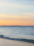 Sunset at Beach with Waves Photographic Print by James Shive