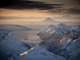 Lake Clark National Park, Alaska: Morning Light on the Chigmit Mountains Photographic Print by Ian Shive