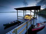 A Tent on a Chickee in the Back Country, Everglades National Park, Florida Photographic Print by Ian Shive