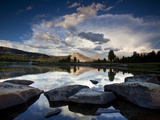 Yosemite National Park, California: Sunset Light on Tuolumne River and Meadows Photographic Print by Ian Shive