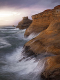 A Clearing Storm Offers Soft Light Along Sandstone Cliffs of Cape Kiwanda Photographic Print by Miles Morgan