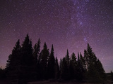 Night Sky over Bighorn Mountains Photographic Print by Mike Cavaroc