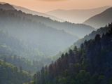 Great Smoky Mountains National Park as Seen from Scenic Overlooks, During Summer. Photographic Print by Ian Shive