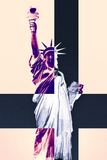 Statue of Liberty - Décorative Art - Cream - New York City - United States Photographic Print by Philippe Hugonnard