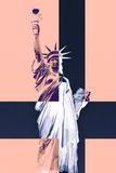 Statue of Liberty - Décorative Art - Pastel - NYC - United States Photographic Print by Philippe Hugonnard