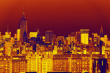 Manhattan Cityscapes - Pop Art skyline - New York City - United States Photographic Print by Philippe Hugonnard