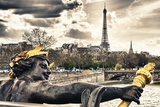 The Eiffel Tower from Pont Alexandre III Bridge - Paris - France Photographic Print by Philippe Hugonnard