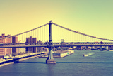 Landscape - Manhattan - Bridge - New York City - United States Photographic Print by Philippe Hugonnard