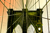 Brooklyn Bridge - Pop Art - United States Photographic Print by Philippe Hugonnard