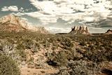 Landscape - Thunder Mountains - Sedona - Arizona - United States Photographic Print by Philippe Hugonnard