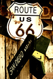 Route 66 - sign - Arizona - United States Photographic Print by Philippe Hugonnard