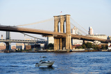 Brooklyn Bridge - The East River - Manhattan - New York City - United States Photographic Print by Philippe Hugonnard