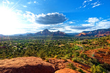 Thunder Mountains - Sunset - Sedona - Arizona - United States Photographic Print by Philippe Hugonnard