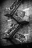 Nödutgångstrappor, New York Fotoprint av Philippe Hugonnard