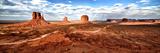 Panoramique De Monument Valley, Aux États Unis À La Frontière De L'Arizona Et De L'Utah V Papier Photo par Philippe Hugonnard