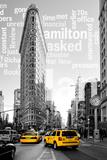 Flatiron Building - Taxi Cabs Yellow - Manhattan - New York City - United States Fotodruck von Philippe Hugonnard
