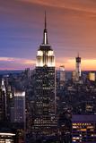 Sunset At Manhattan - Empire State Building - Art Modern Photographie par Philippe Hugonnard