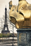 Flame of freedom (identical to the Statue of Liberty) - Pont de l'Alma - Paris - France Photographic Print by Philippe Hugonnard