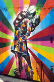 Times Square Kiss By Eduardo Kobra À Chelsea Proche De High Line Park Photographic Print by Philippe Hugonnard