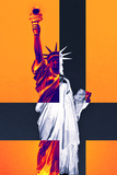 Statue of Liberty - Décorative Art - Orange - NYC - United States Photographic Print by Philippe Hugonnard