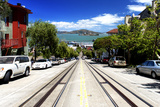 Cable Cars Street De Downtown De San Francisco II Photographic Print by Philippe Hugonnard