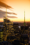 Buildings and Structures - lndcape - Sunset - Manhattan - New York City - United States Photographic Print by Philippe Hugonnard