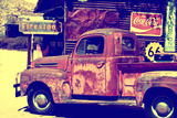 Truck - Route 66 - Gas Station - Arizona - United States Photographic Print by Philippe Hugonnard
