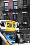 School bus - New York - United States Photographic Print by Philippe Hugonnard
